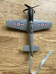 Powered P51 Airplane Toy 1997 Dah Yang Toys Vintage Plastic Tested Prop Dy Toy