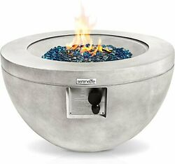 Serenelife 40,000 Pulse Ignition Outdoor Weatherproof Round Propane Gas Fire Tab