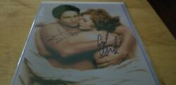 Rare David Duchovny And Gillian Anderson Signed 8x10 Photo X Files Coa In Bed