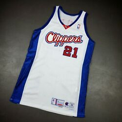 100 Authentic Darius Miles Champion 01 02 Clippers Game Issued Jersey 48 Xl