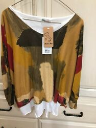 Womens Nwt 2 Blouses In 1 Catherine Lillywhites From Italy Size Lg. Fall Col