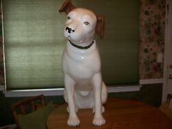 Vintage Original 3and039 Tall Rca Nipper Dog Plastic Store Advertising Display