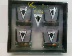 4 Canadian Club On The Rocks Glass Tumblers 8oz New In Box