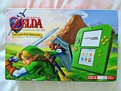 Nintendo 2ds Legend Of Zelda Ocarina Of Time 3d Green Console Link Edition New