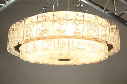 Huge Vintage Doria Chandelier Andempty24and039and039 Glass Tube Flush Mount Ceiling Fixture Lamp