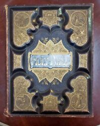 Vintage 1873 Complete Domestic Bible Several Stunning Color Lithograph Prints