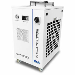 Us Stock 110v Sanda Brand Industrial Water Chiller Cw-6000dn For 22kw Cnc Spindle