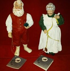Clothtique Possible Dreams 1995 Santa And Mrs Claus A New Suit For Santa 15053
