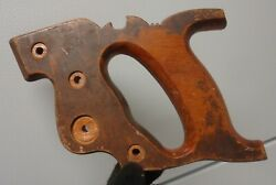 Atkins Vintage Hand Saw Handle Wooden Rivets Nuts Medallion Craft Replacement