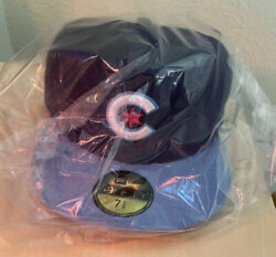New Era Chicago Cubs Size 7 5/8 5950 Fitted On Field Cap Mlb City Connect - New