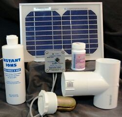 Solar Powered Deluxe Spa Ionizer Model Ssds Treats 2000 Gallons