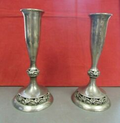 Vintage Mueck Carey Co Solid Sterling Candle Stick Holders31466-silver-nss