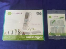 New And Sealed Prospera Electronic Pulse Massager White Fda Approved W Extra Pads