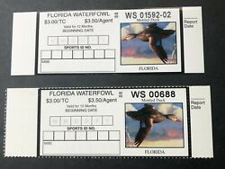 2002 Florida Duck Stamp Error And Corrected Version. Both Mnh. Mottled Duck.