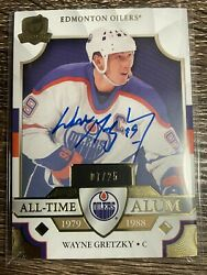 Wayne Gretzky 2019-20 Ud The Cup Gold All-time Alum Auto Sp 07/25