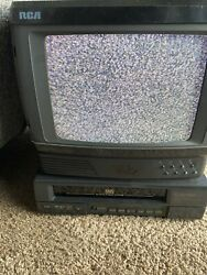 Vintage Rca Colortrak 13 Inch Tv With Remote Vcr Tested