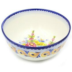 Hand-painted Traditional Portuguese Pottery Ceramic Large Salad Bowl 933