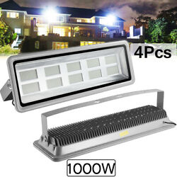 4x 1000w Led Flood Light Cool White Camping Outdoor Lighting Security Wall Lamp