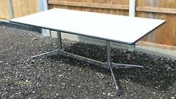 Rare Vitra Eames Segmented Boat Dining Table Conference Desk Andndash Amazing Condition