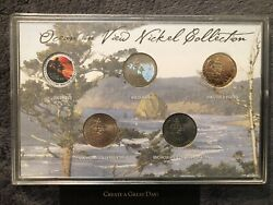 🤩hologram Colorized Gold Plated Mint P D 2005 Ocean In View Nickel 5 Coin Set