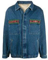 Web Detailing Denim Jacket -with Tags- Rrp3,100 Aud