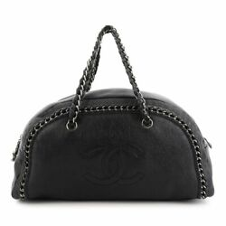 Luxury Chain Hand Bag Leather Black Purse A31575 90129255