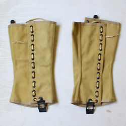 Wwii Ww2 Us Army M1938 Canvas Gaiters Wrappings Leggings