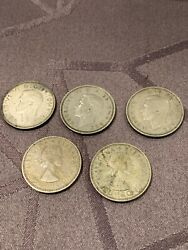 Great Britain Coins One Shilling 1942 - 1957