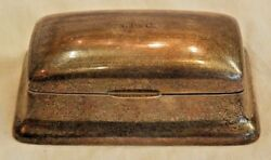 Antique Reed And Barton Sterling Silver Stamp Holder Case