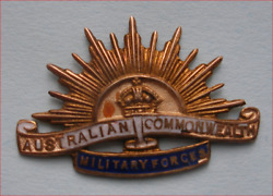 Ww 1 Australian Commonwealth Military Forces Gold 9ct. Sweetheart Brooch Badge