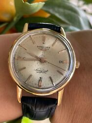 Longines Watch Conquest 9021 Automatic Cal.290 Gold 18k 750 Mens 35mm Swiss Made