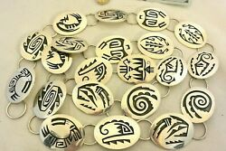 15+ozt Hopi Signed Casey Cuch 21 Unique Link Concho Belt Sterling Silver 50 Max
