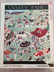 New York Puzzle Company 1000 Piece Jigsaw Vanity Fair A Day At The Races 1919