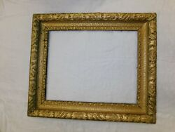 Antique Picture Frame Wood Gesso Gold Ornate 21.5x25.5