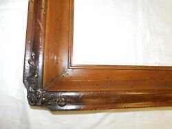 Antique Picture Frame Wood 27 X 23 Outside 16 X 20 Inside