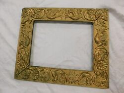 Antique Picture Frame Wood Gesso Gold Ornate15 X 18 Outside Griffins
