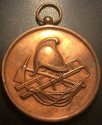 Medal - Sappers Firefighters - Helmet Scale Axe Rope - Early 20th Century