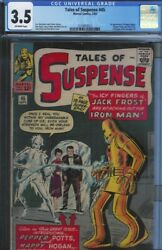 Cgc 3.5 Tales Of Suspense 45 Pepper Potts And Happy Hogan 1st Appearance Ow Pages
