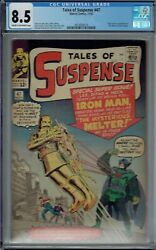 Cgc 8.5 Tales Of Suspense 47 1st Appearance The Melter Cr/ow Pgs Iron Man 8th