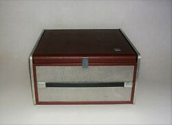 1960and039s Mid Century Modern Ge Portable Record Player Model No. Rp-1520a Brown