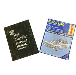 Lot Of 2 Cadillac Auto Repair Manuals 1978 Supplement And 1970-1972