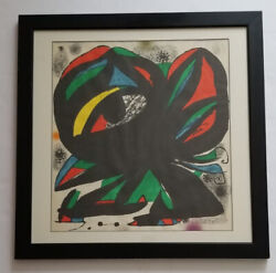 Superb Miro Joan 1893-1983 H.c. Edition Eye Lithograph Pencil Hand-signed 27andrdquo
