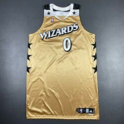 100 Authentic Gilbert Arenas Wizards Adidas 08 09 Game Worn Issued Jersey 50+4