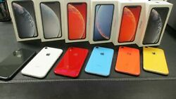 New Apple Iphone Xr A1984 Atandt Unlocked Gsm T-mobile Original Box All Color 64gb