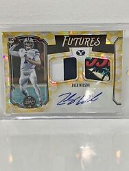 2021 Panini Legacy Zach Wilson Rookie Dual Patch Auto Gold Jersey 1/10 Rc