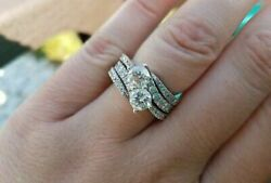2.50ct Ever Us Together Wedding Ring With Matchinig Bands In 925 Sterling Silver