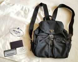Authentic Prada Black Nylon Small Purse Backpack - Excellent Condition