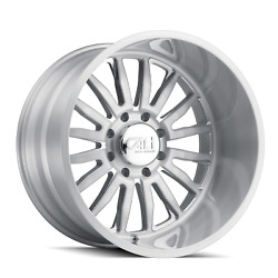 22 Inch 6x135 Wheels Rims Brushed Clear Gloss 0mm Cali Off-road Summit 9110