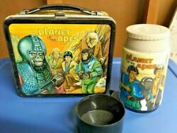 Rare Vintage Lunchbox 1974 Planet Of The Apes Lunchbox With Thermos Collectible