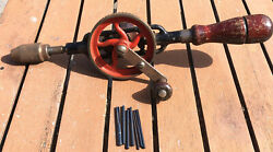 Vintage Millers Falls Hand Drill No. 5 Egg Beater Hand Drill With Only 7 Drill B